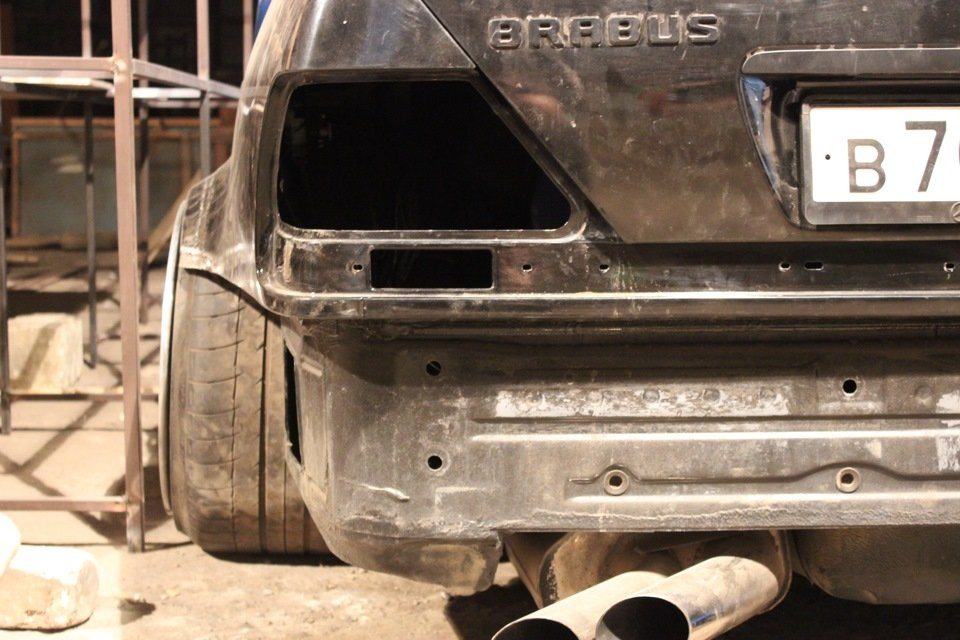 Mercedes S-class W140 BRABUS Project In Progress (104)