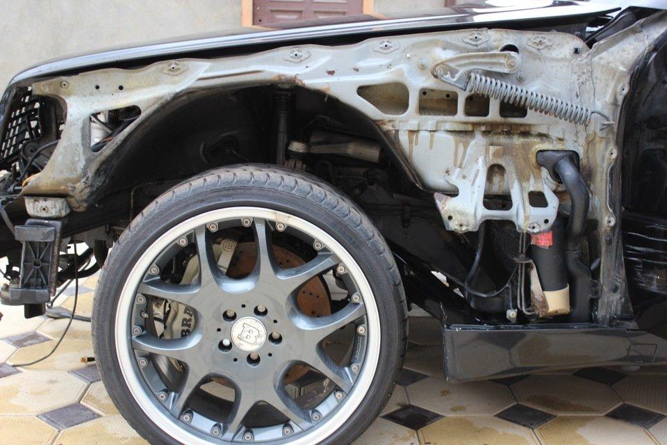 Mercedes S-class W140 BRABUS Project In Progress (116)