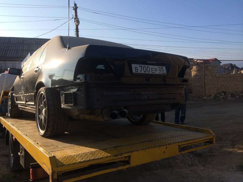 Mercedes S-class W140 BRABUS Project In Progress (144)