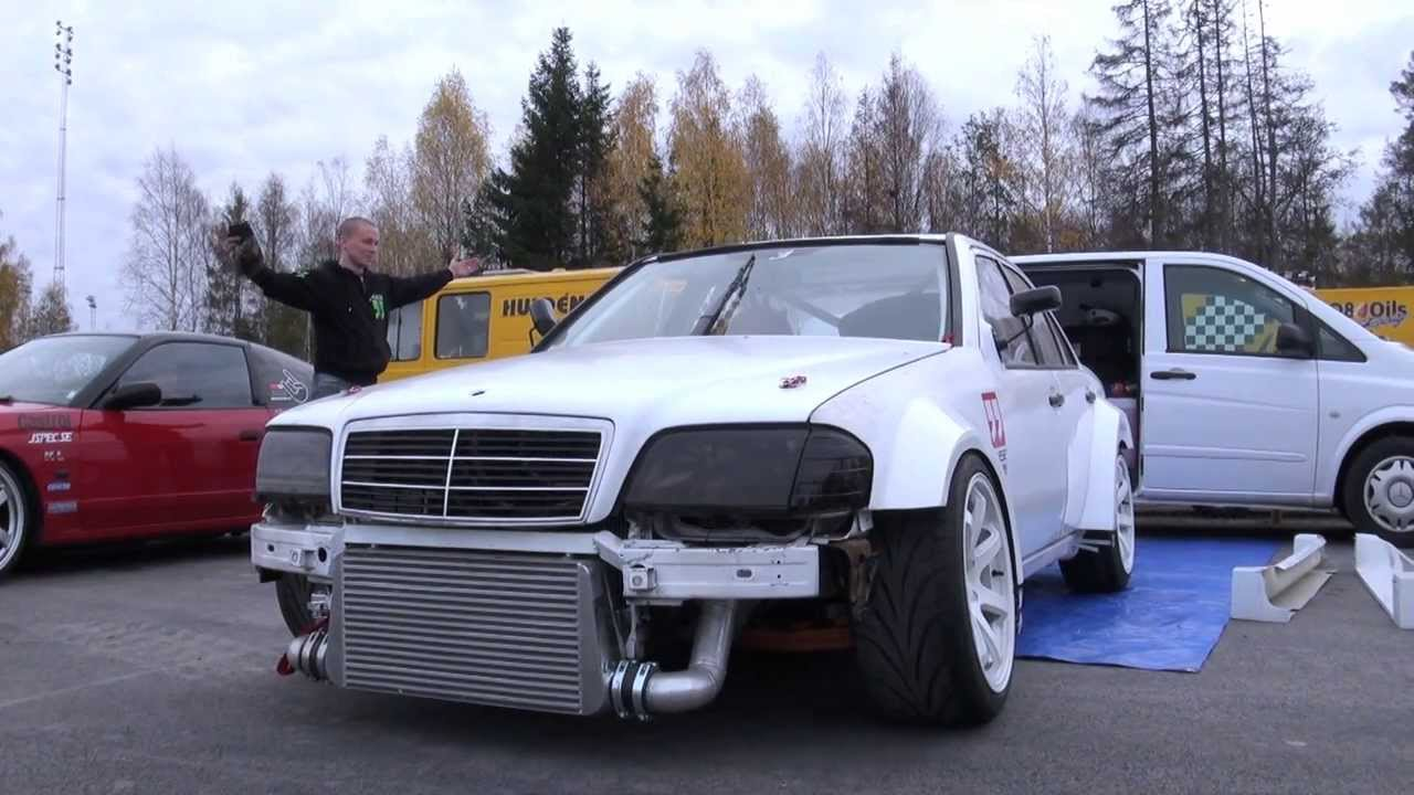 Driftloco Mercedes W202 C36 AMG Turbo Driftcar - Green Valley 2013 (First Shakedown)