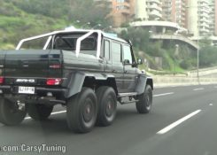 Brabus Mercedes G63 AMG 6×6 700 on the Street – Acceleration Sounds