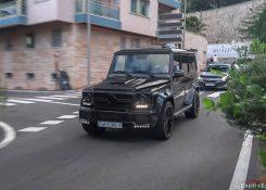 3x LOUD 700 HP Brabus B70 Mercedes G63 AMG driving in Monaco!