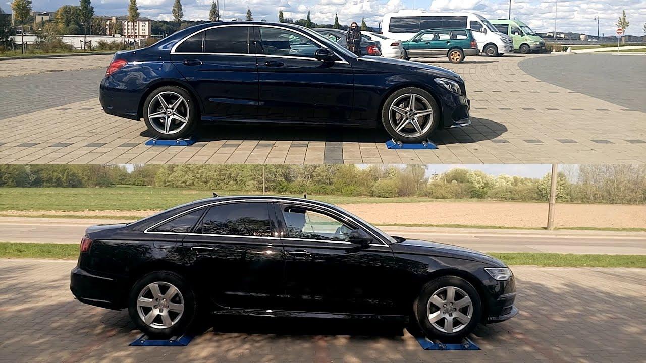 4MATIC vs QUATTRO - Mercedes W205 C200 vs Audi A6 2.0 TDI - 4x4 test