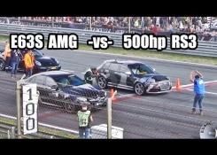 500hp Audi RS3 -vs- Mercedes E63s AMG -vs- 911 Turbo S and more!