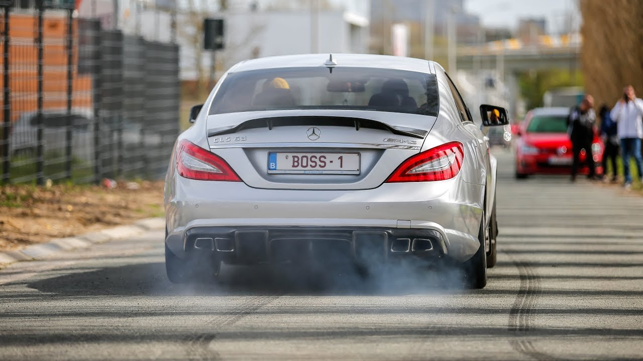 700HP RENNtech Mercedes CLS63 AMG BiTurbo - LOUD Revs, Crackles, Burnouts & Accelerations!
