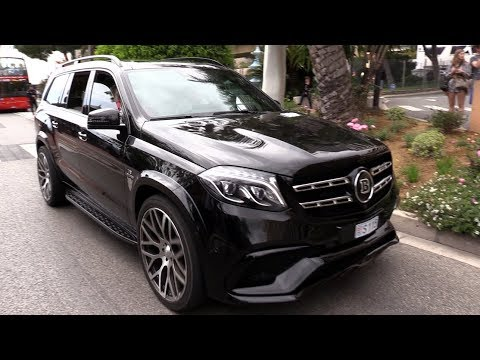BRABUS 850 6.0 BiTurbo GLS63 AMG XL - Exhaust SOUNDS in Monaco!