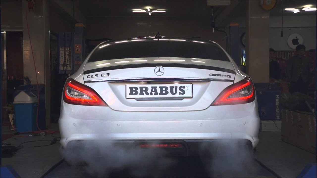 BRABUS valve controlled exhaust for CLS63 AMG