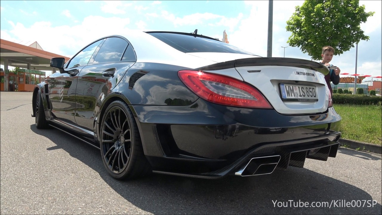 Mansory Mercedes CLS63 AMG revs & lovely sound 1080p