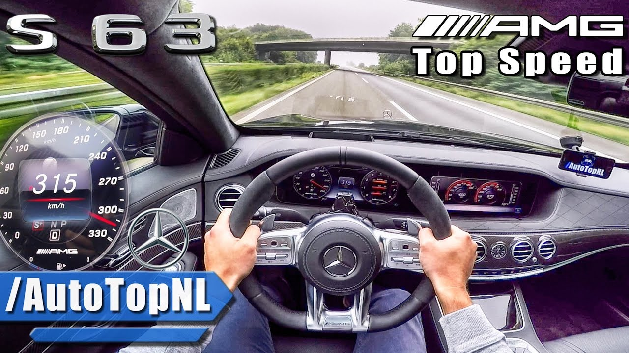 Mercedes S63 AMG 612HP 4Matic+ ACCELERATION 315km/h TOP SPEED AUTOBAHN POV