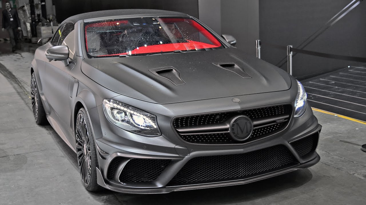 Mercedes S63 AMG Cabrio Mansory Black Edition - Driving & Sound