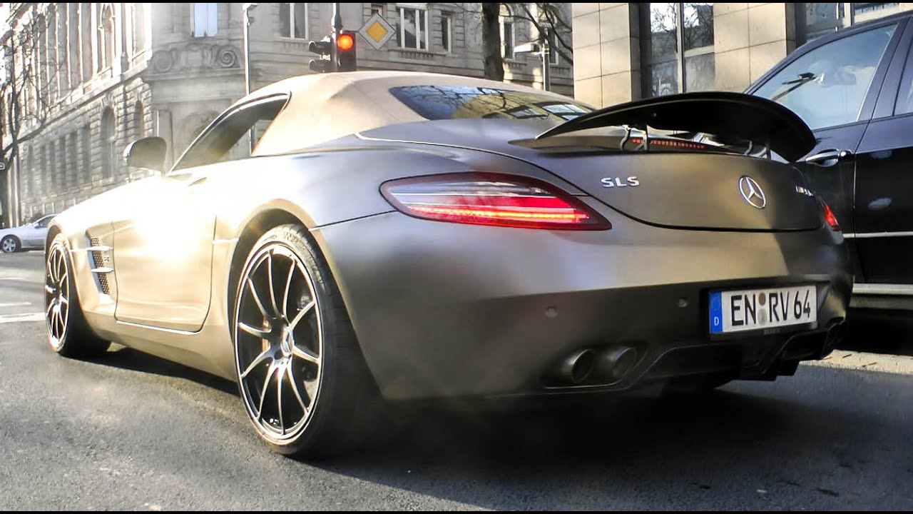 Mercedes SLS AMG w/ Brabus Exhaust - INSANE Revs & SOUNDS!