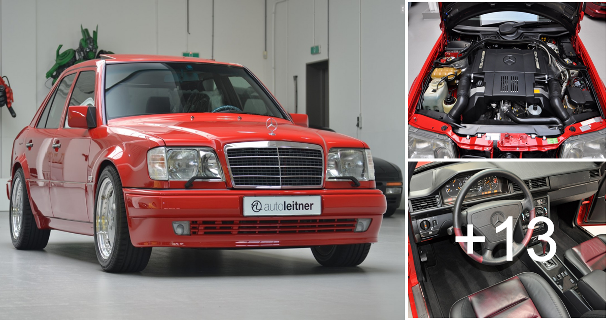 Mercedes-Benz W124 Red E60 AMG