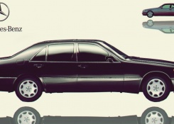 1991 Mercedes-Benz 600SE/L W140 (W140.057) sedans and coupé models