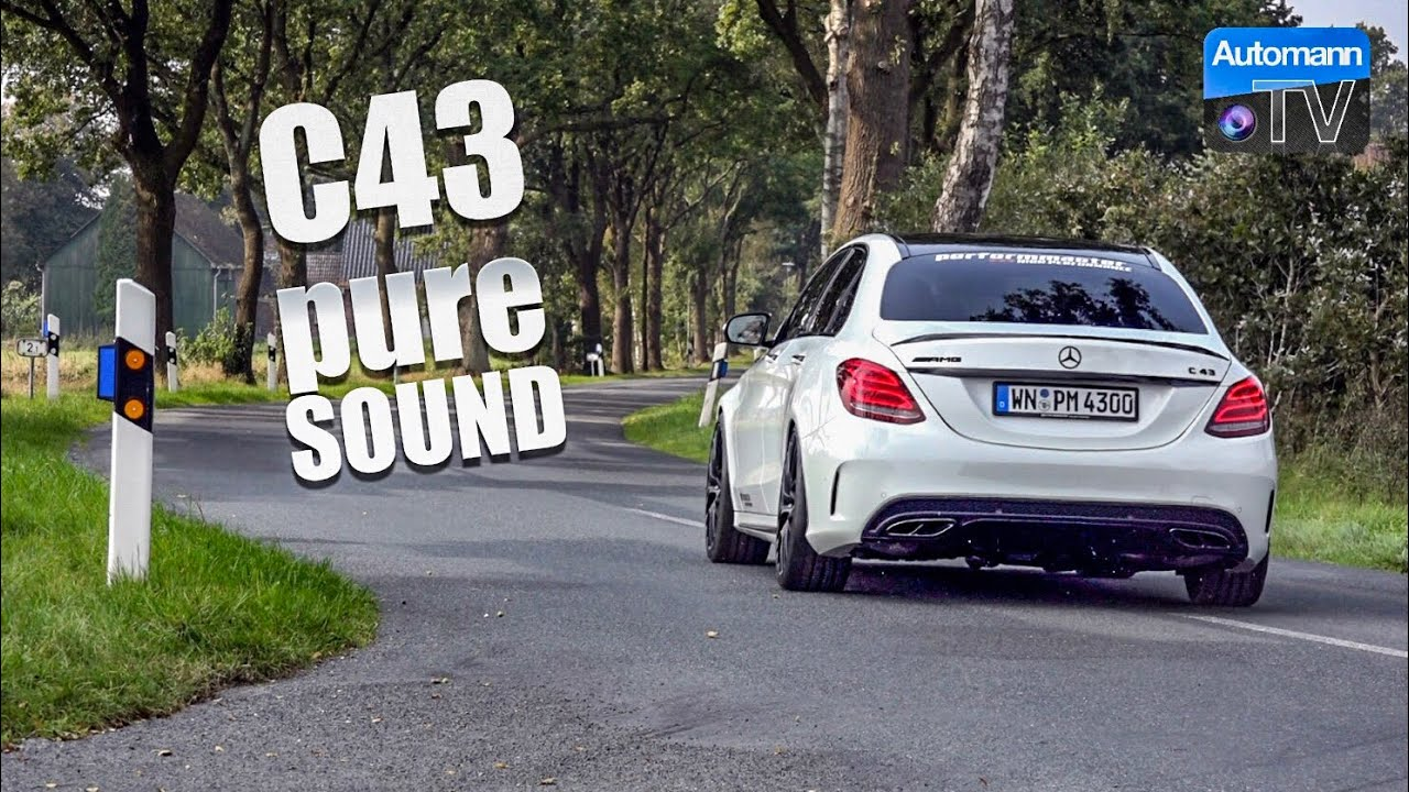 2018 Mercedes-AMG C43 (430hp) - pure SOUND (60FPS)
