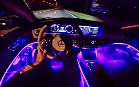 2018 Mercedes Benz S Class POV NIGHT DRIVE - AMBIENT LIGHTING