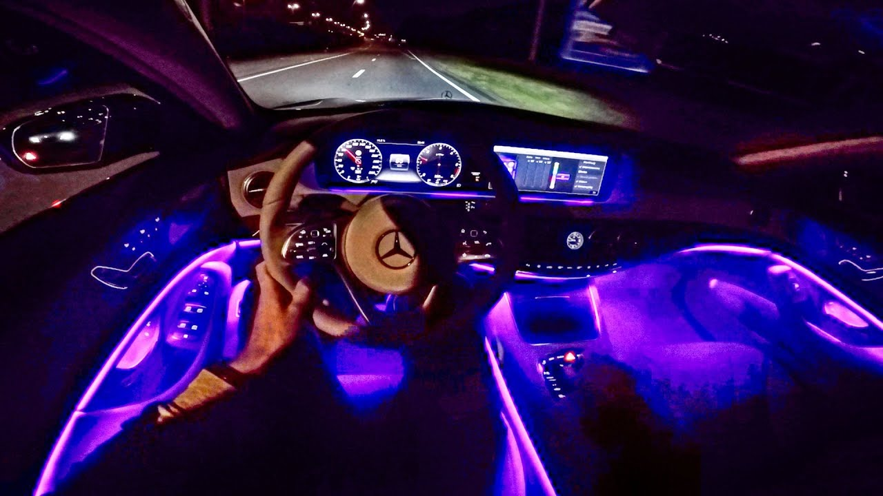 2018 Mercedes Benz S Class POV NIGHT DRIVE - AMBIENT LIGHTING