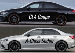 2020 Mercedes CLA Coupé vs Mercedes A-Class Sedan