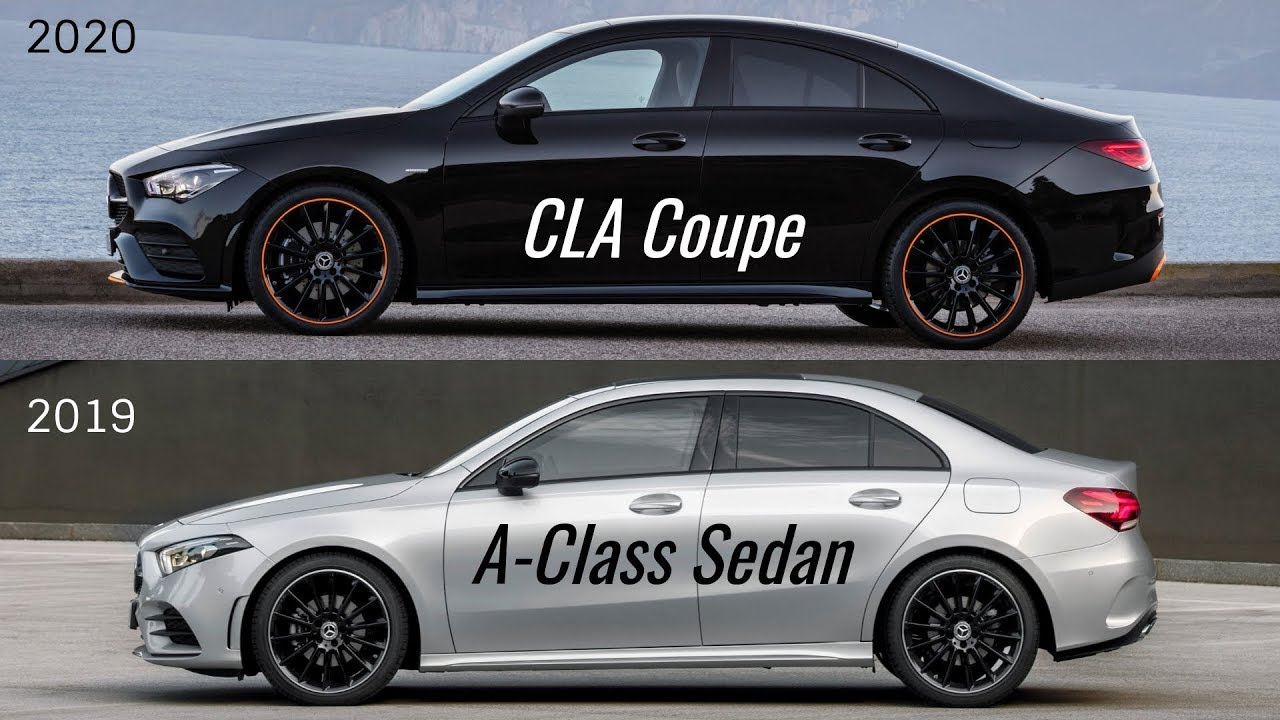 2020 Mercedes CLA Coupé vs Mercedes A-Class Sedan