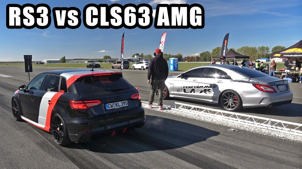 500HP Audi RS3 Sportback vs 920HP Mercedes-Benz CLS63 AMG