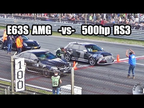 500hp Audi RS3 -vs- Mercedes E63s AMG -vs- 911 Turbo S and more!