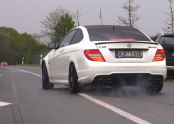 600HP Wimmer Performance Mercedes-Benz C63 AMG Coupe – BURNOUT!
