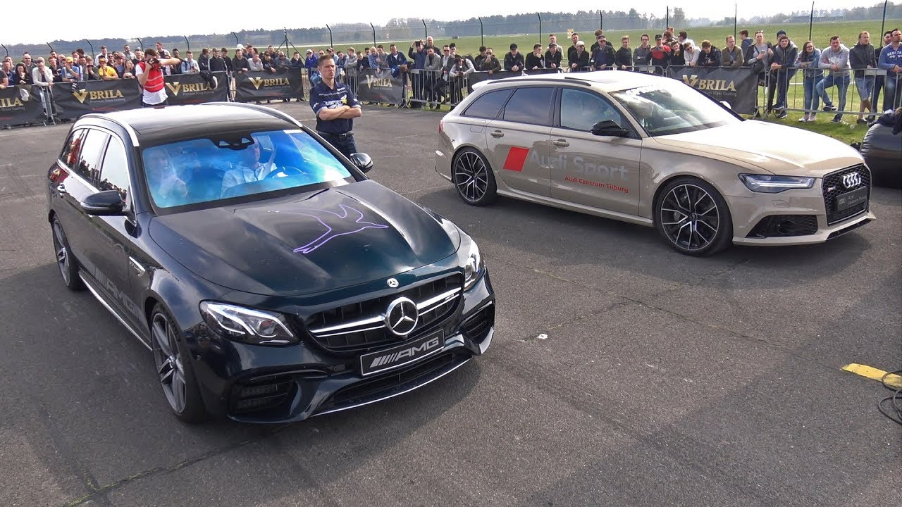 612HP Mercedes-AMG E63 S Estate vs 560HP Audi RS6 Avant C7