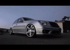Mercedes Benz AMG E55 on 20″ Vossen VVS-CV5 Concave Wheels | Rims
