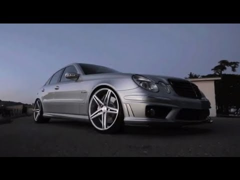 "Mercedes Benz AMG E55 on 20"" Vossen VVS-CV5 Concave Wheels 