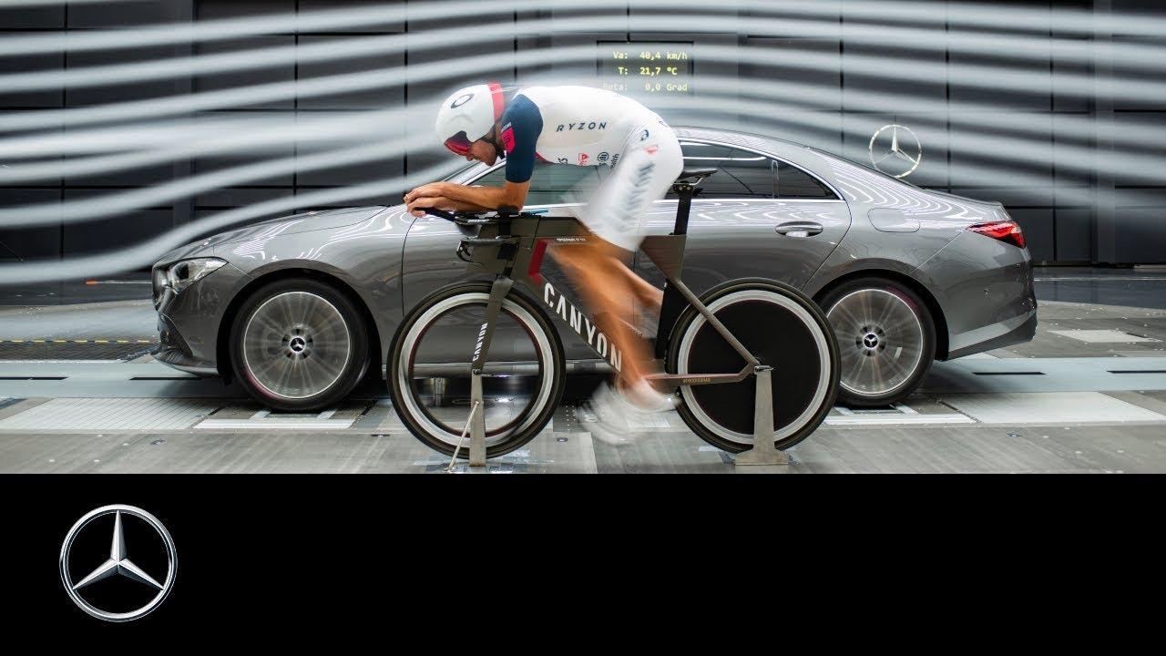 Mercedes-Benz CLA Coupé (2019) and Jan Frodeno: In the Wind Tunnel
