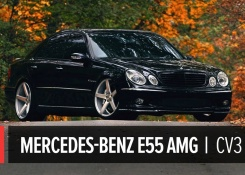 Mercedes Benz E55 AMG on 20″ Vossen VVS-CV3 Concave Wheels / Rims