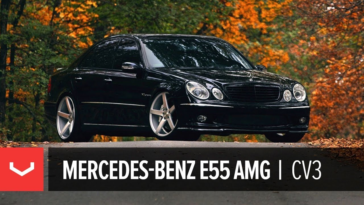 "Mercedes Benz E55 AMG on 20"" Vossen VVS-CV3 Concave Wheels / Rims"