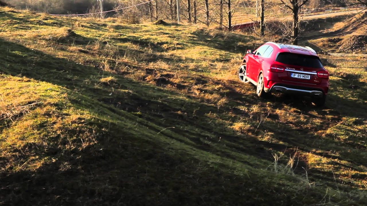 Mercedes-Benz GLA 220 CDI 4Matic off-road test (English subtitles)