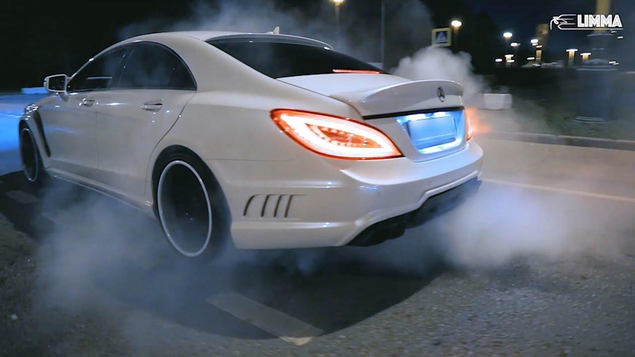 Mercedes CLS63 vs Lexus IS-F drift battle Moscow