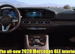 The all-new 2020 Mercedes GLE interior