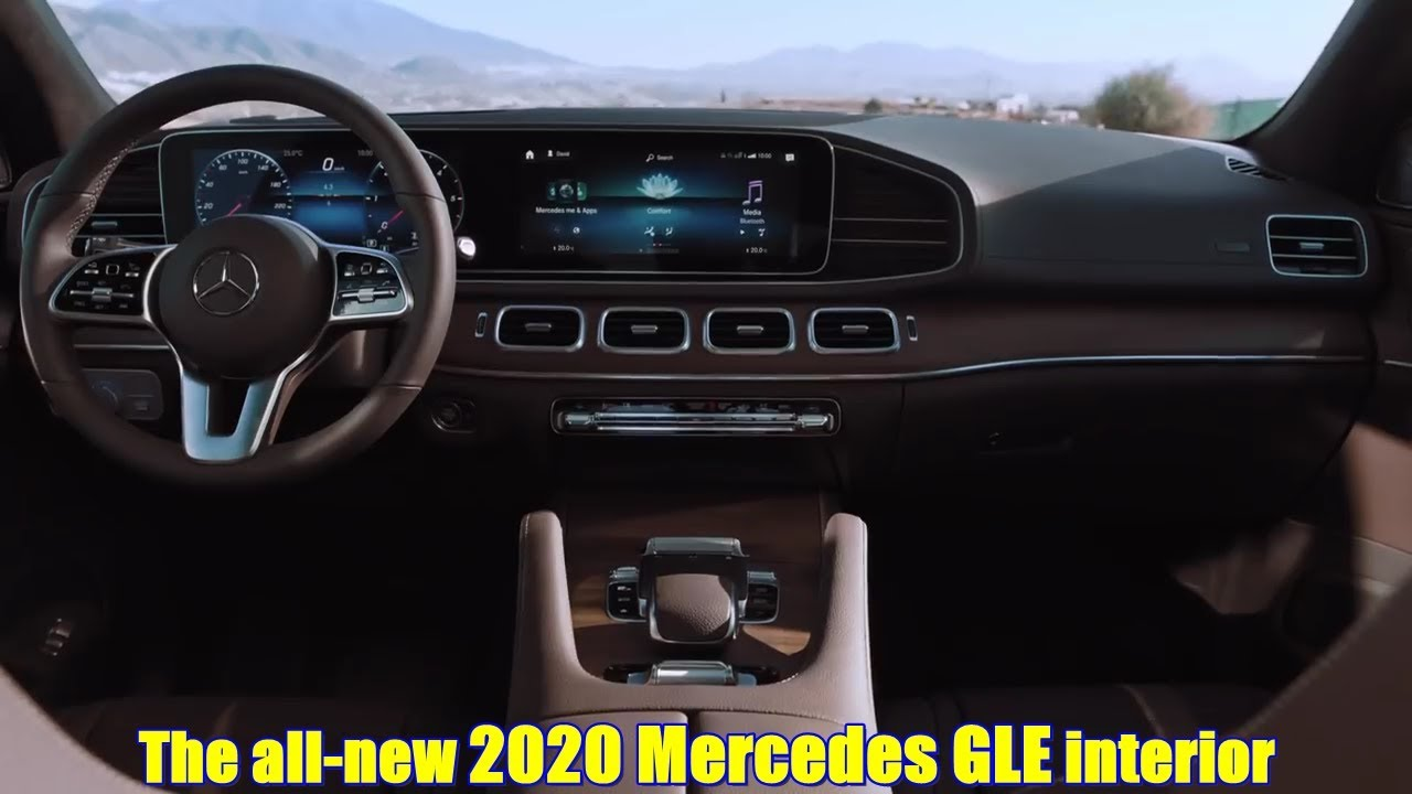 The all-new 2020 Mercedes GLE interior