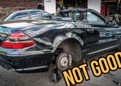 The Tires On My $8,900 Mercedes-Benz SL55 AMG Were Way Worse Than I Thought