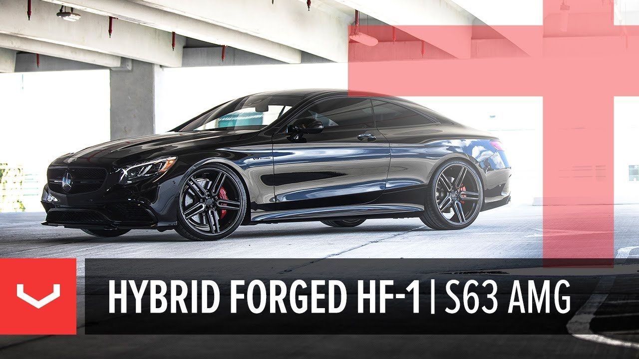 Vossen Hybrid Forged HF-1 Wheel | Mercedes-Benz S63 AMG Coupe | Tinted Gloss Black