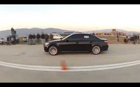 BMW M5 E60 VS Mercedes Benz E55 AMG Drag Race 400m
