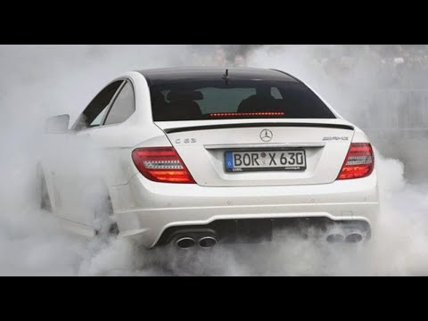 Crazy Mercedes-Benz C63 AMG W204 Compilation! Burnouts, Donuts, Brutal Exhaust Sounds, and Drifts!