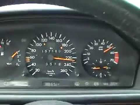 Mercedes Benz E500 W124 Acceleration From 0 to 260 km/h