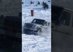 Mercedes-Benz G-Class Up on the Ski Slope