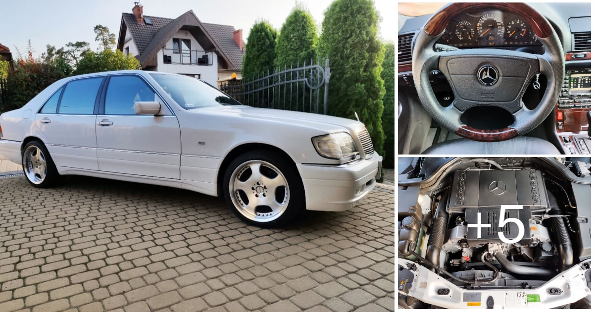 White Mercedes-Benz S500 W140