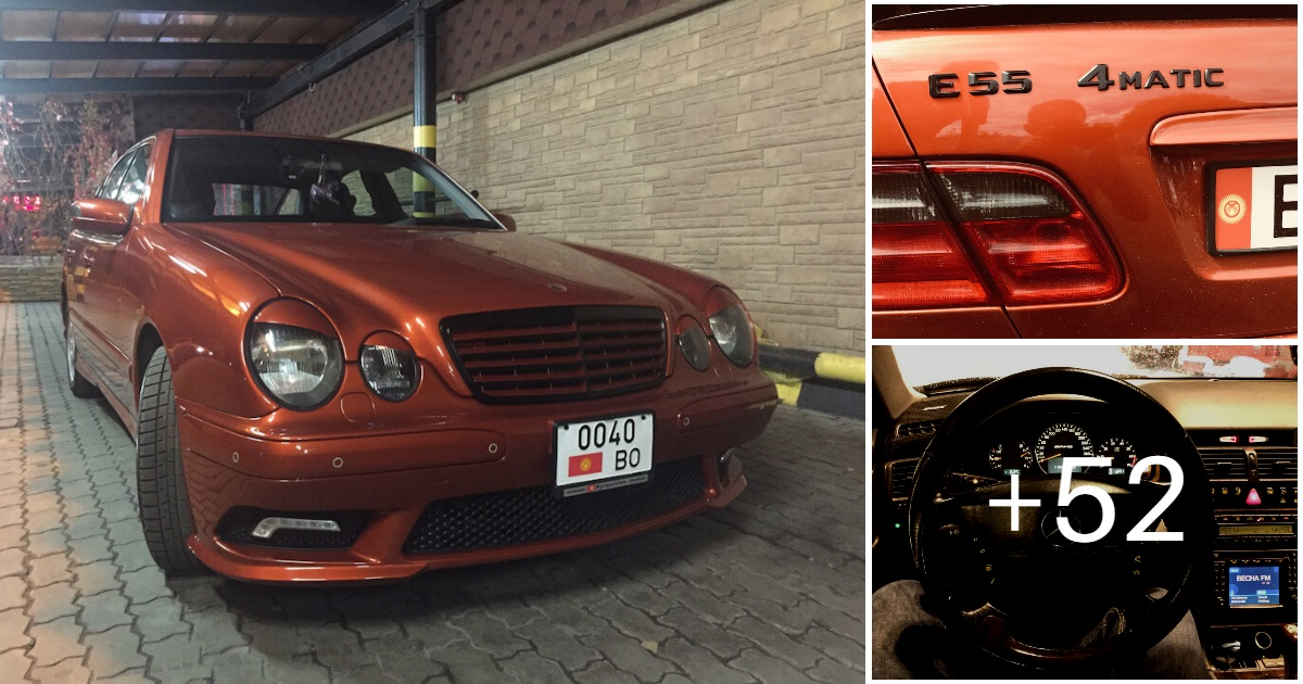 Mercedes E55 AMG SOLAR ORANGE 4WD W210 (55 photos, 6 videos)
