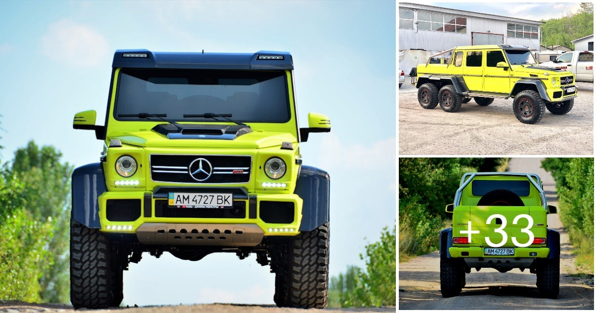 Mercedes G-class G 6x6 BRABUS (36 photos, 24 videos)