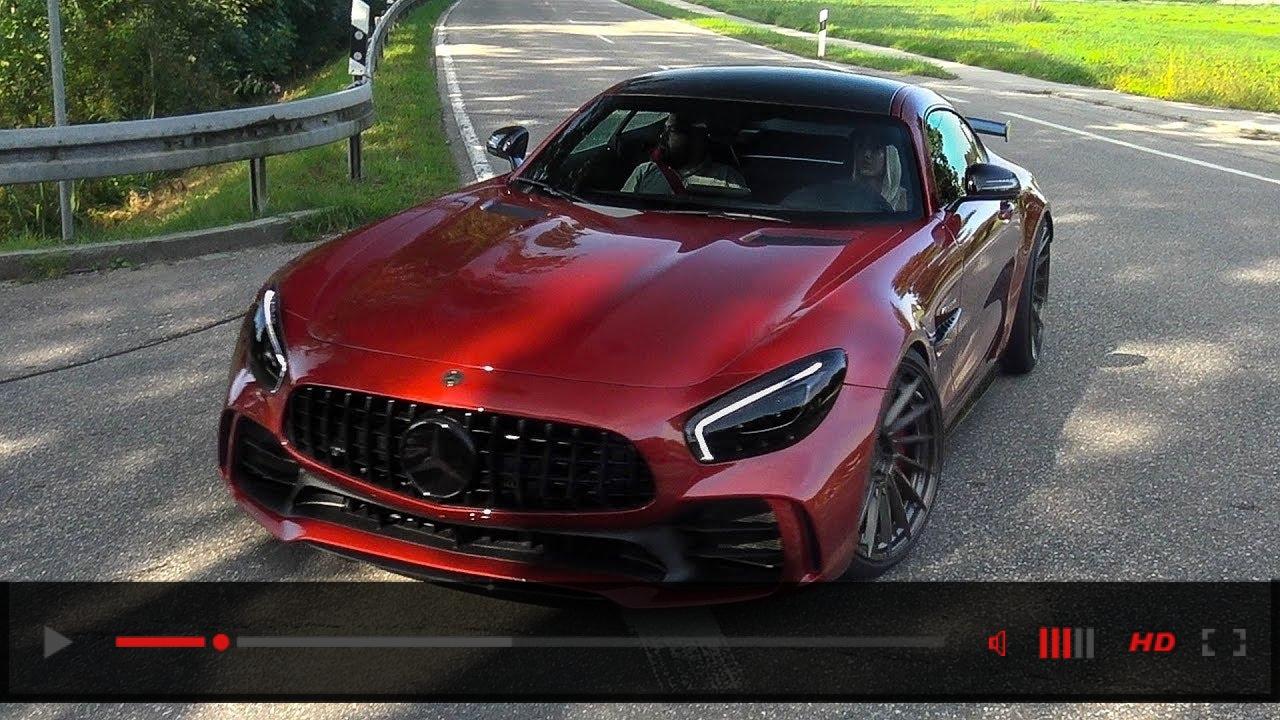 VIDEO: EXTREM LOUD Mercedes-AMG-GTR w/ Fi Exhaust System! REVS & CRAZY CRACKLES!