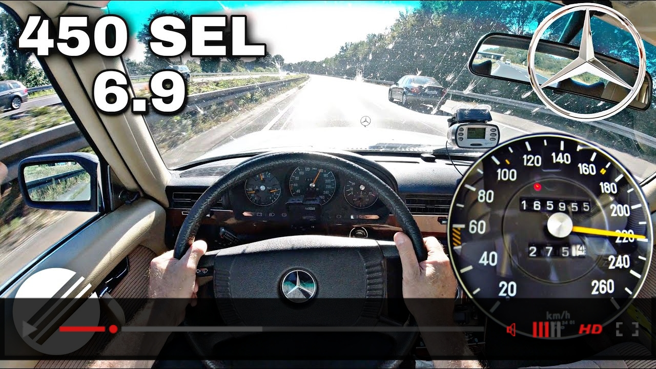 1978 Mercedes-Benz 450 SEL 6.9 W116 TOP SPEED DRIVE ON GERMAN AUTOBAHN