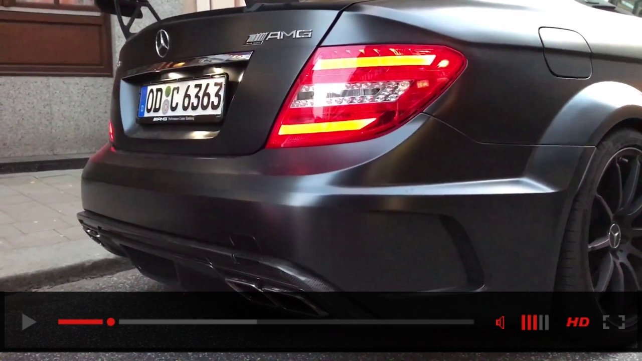 Straight Piped Mercedes C63 Black Series! Loud acceleration!