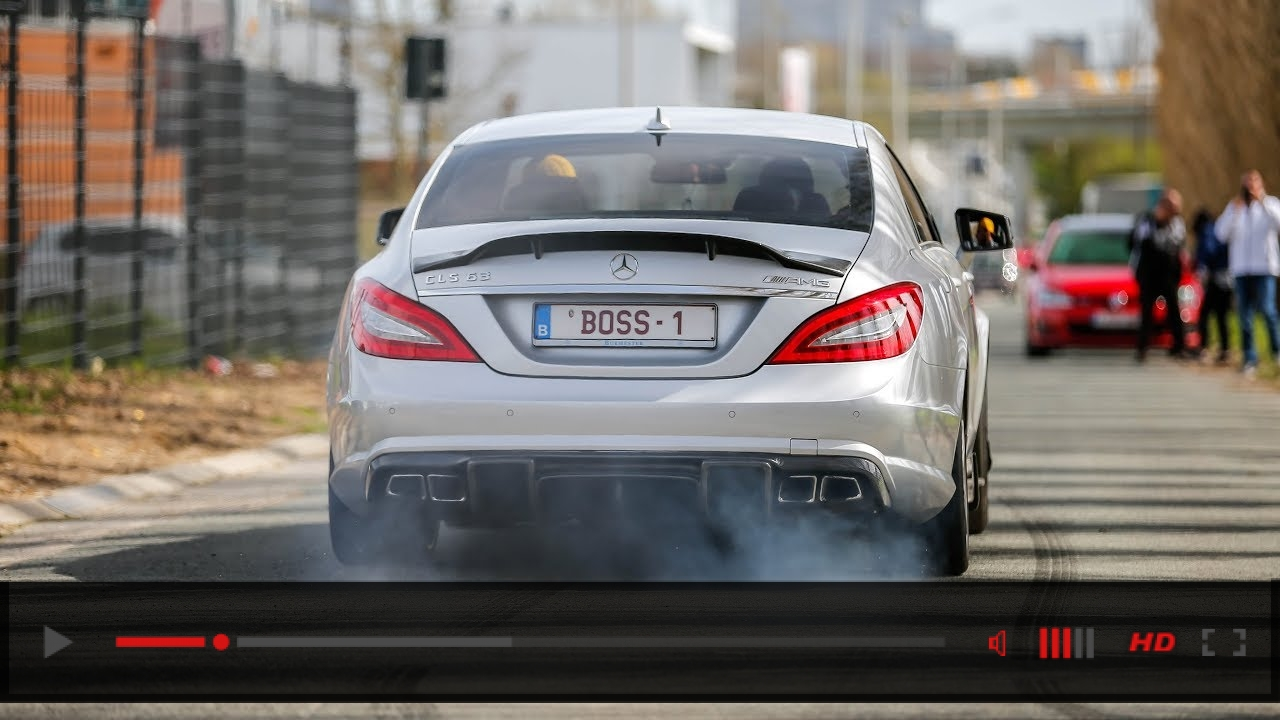 700HP RENNtech Mercedes CLS63 AMG BiTurbo - LOUD Revs, Crackles, Burnouts & Accelerations