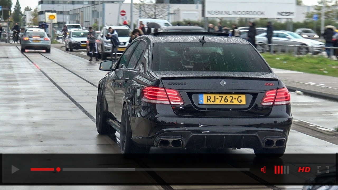 BRABUS 650 E63S AMG - BRUTAL REVS AND ENGINE SOUND!