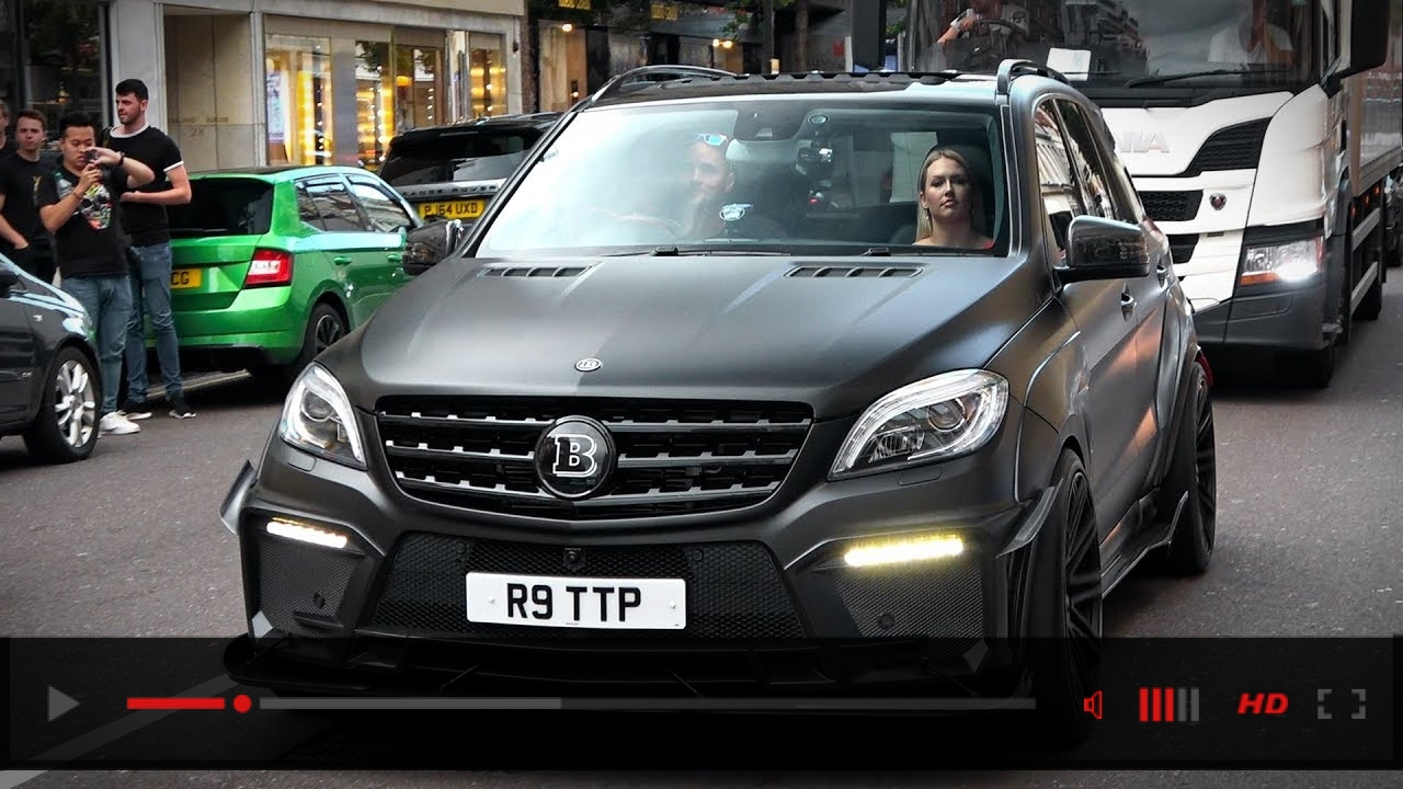 LOUD and BRUTAL BRABUS ML B63-750 Widestar terrorize London!!!